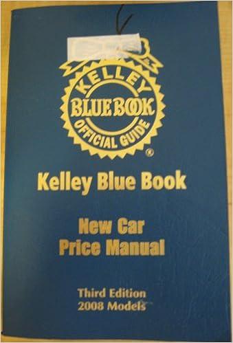 New Car Price Manual Kelly Blue Book New Car Price Manual Vol 42