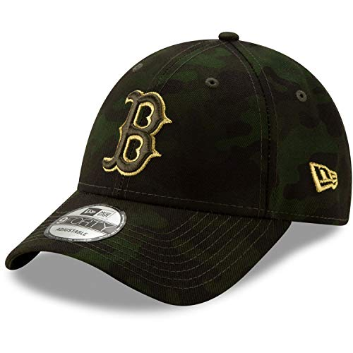 New Era Boston Red Sox 2019 MLB Armed Forces Day 9FORTY Adjustable Hat - Camo