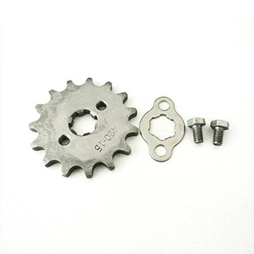 (JRL 15T Teeth 17mm 420 Chain Front Sprocket Cog PIT TRAIL QUAD DIRT BIKE ATV BUGGY)