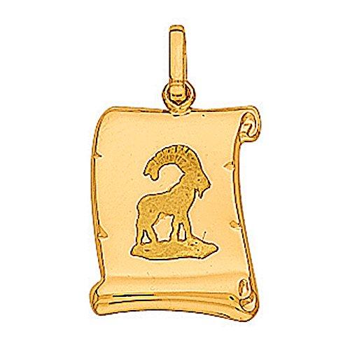 So Chic Bijoux © Pendentif Zodiaque Capricorne Parchemin Or Jaune 750/000 (18 carats)