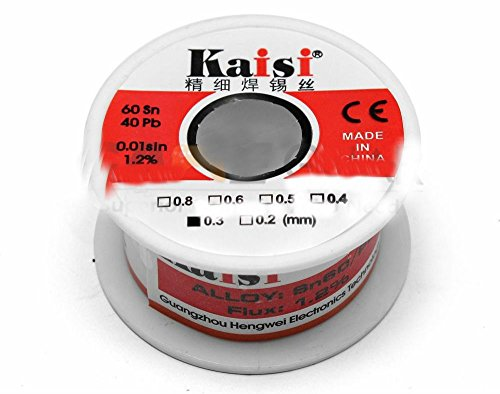 0.3mm 50G 60/40 Rosin Core Flux 1.2% Tin Lead Roll Soldering Solder Wire from Unknown