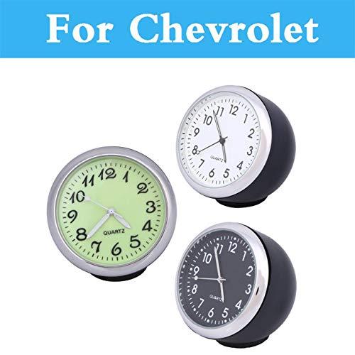(Fastener & Clip Car Mechanics Quartz Clock Mini Watch Digital Pointer for Chevrolet Aveo Blazer Camaro Cavalier - (Color Name: White))