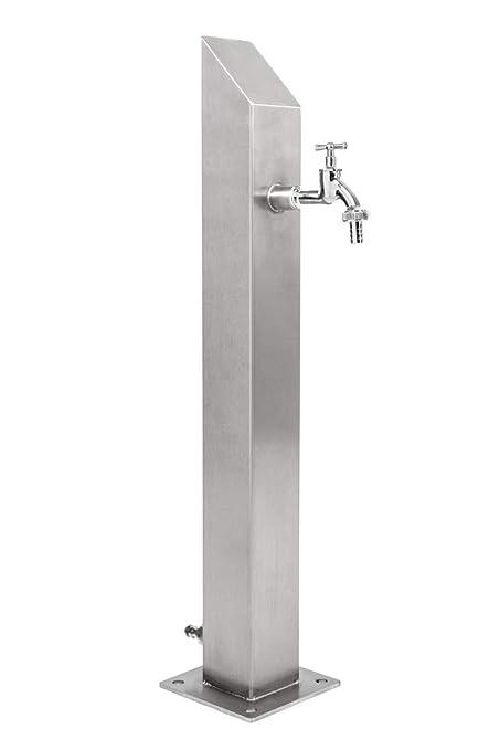 Ktc Tec Wassersäule Edelstahl V2a Garten Brunnen Zapfsäule