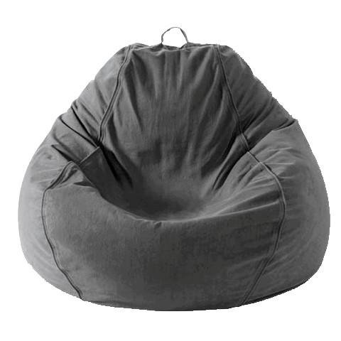 ADULT PEAR, TWILL, CHARCOAL GREY BEANBAG - Pear Chair