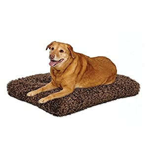 Plush Dog Bed | Coco Chic Dog Bed & Cat Bed | Cocoa 48L x 30W x 3H - Inches for XL Dog Breeds