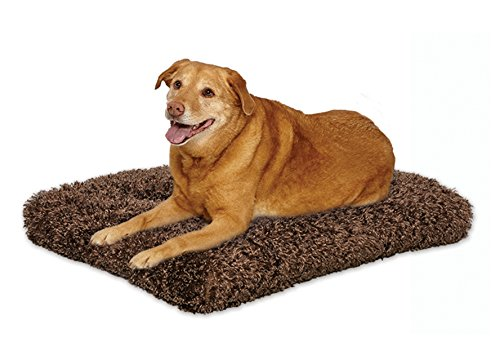 Plush Dog Bed | Coco Chic Dog Bed & Cat Bed | Cocoa 48L x 30W x 3H – Inches for XL Dog Breeds