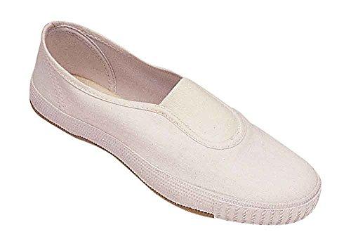 Zapatillas De Lona Con Diseño Textil Slip-on De Mirak - Blanco - Talla 6