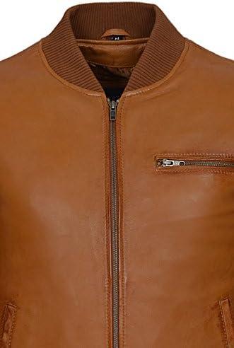 Men/'s 70/'S RETRO BOMBER 275 Brown Cool Classic Soft Italian Napa Leather Jacket