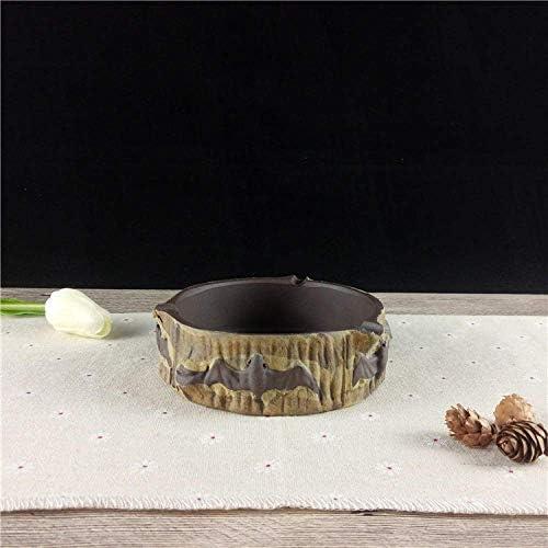 SRX ふたのzisha灰皿ピュア手作り石器灰皿オフィスホームセラミック灰皿付き屋内灰皿のための灰皿灰皿