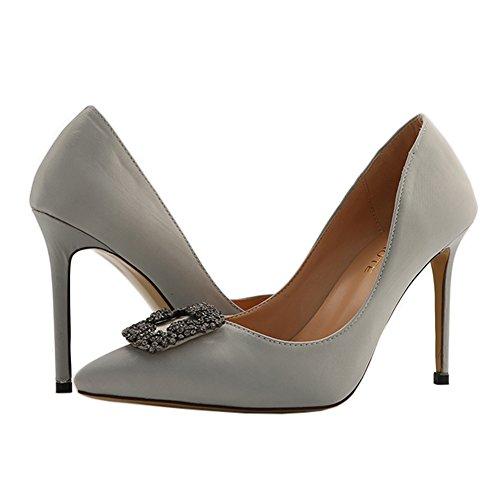 MERUMOTE - Zapatos de tacón fino Mujer Gris - gris