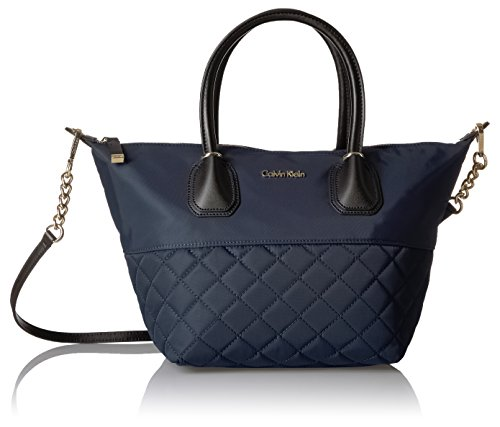 Calvin Klein Florence Quilted Nylon Large Top Zip (Quilted Zip Top Tote)