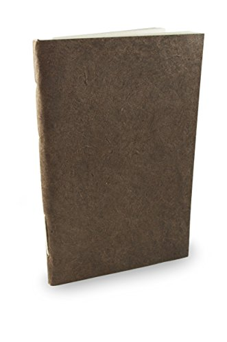 Nepali Companion Notebook with Handmade Paper and Vegetable-Dyed Cover. Made in Nepal (Medium, Dark Walnut)