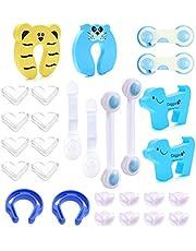 Yinuoday Universal Baby Safety Set, Baby Proofing Kit Finger Pinch Guard Door Stoppers Cabinet Door Locks Corner Protectors for Home Kindergarten