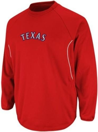 Majestic Texas Rangers Authentic Therma Base Tech Fleece Red Big Sizes 3XL & 4XL (3XL)