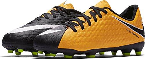 Nike JR HYPERVENOM PHADE III FG Fußballschuhe, Unisex Kinder, Orange–�?Laser Orange/white-black-volt)