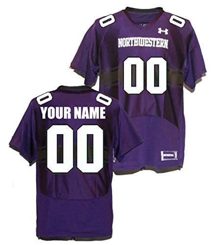 Custom Northwestern Wildcats Football Jersey (Medium)