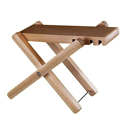 GDGQJRM Guitar Pedal Adjustable Folding footrest Foot Shelf Playing Guitar Foot Step Stool Solid Wood Ankle Foot pad