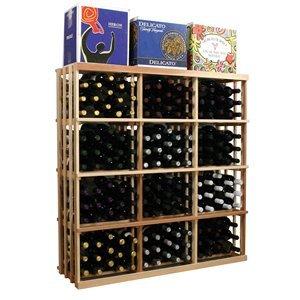 3 ft. 3-Column Wooden Wine Rack (Premium Redwood - Classic Mahogany Stain)