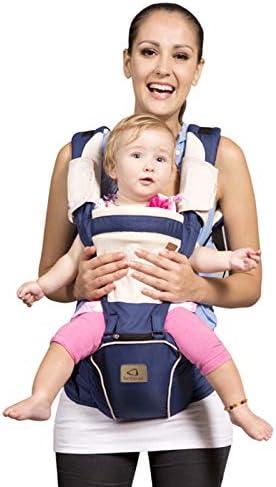 Bebamourdraagzak voor 036 maanden ademende draagzak Rugzak voor pasgeboren tot peuters goedgekeurd door veiligheidsnorm ergonomische babyheupzitje 6in1 voordragerDark Blue