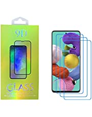 Screen Protector for Samsung Galaxy A51 , Tongke [3 Pack] HD Clear Scratch Resistant Bubble Free Anti-Fingerprints 9H Hardness Tempered Glass for Samsung Galaxy A51