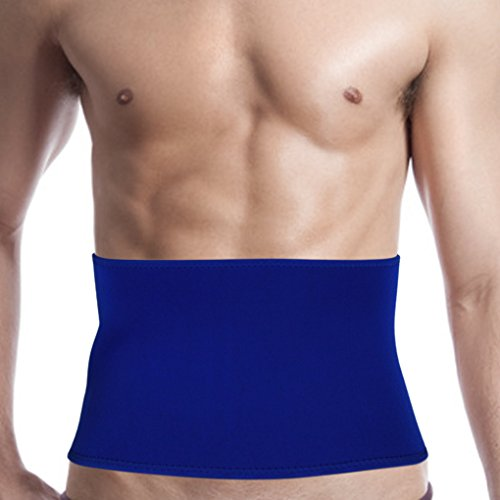 Fakeface Breathable Neoprene Compression Waist Trimmer Belt Lower Back Lumbar Support Brace Adjustable Sweat Enhancer Exercise Sauna Band Strap Weight Loss Ab Wrap for Men Women (Belt Neoprene Waist)