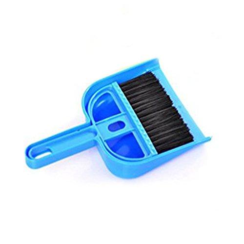 Generic Mini Cleaning Broom Brush and Dustpan Set Desktop Sweep Cleaning Brush Dustpan Set Color (Mini Dust Pan)