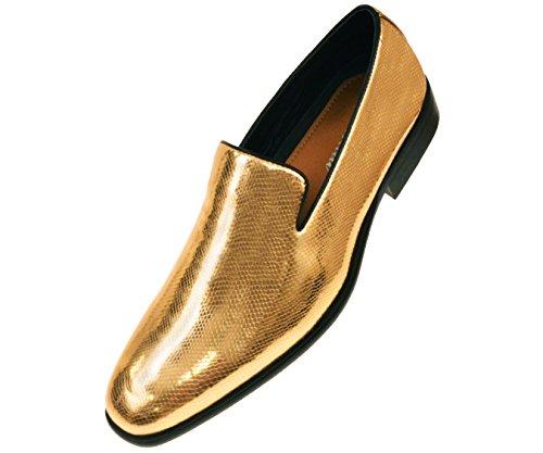 Amali Mens Shiny Black Exotic Printed Tuxedo Slip On Dress Shoe Style Durant Runs Large Size 1/2 Size Down - Exotic Mens Shoes