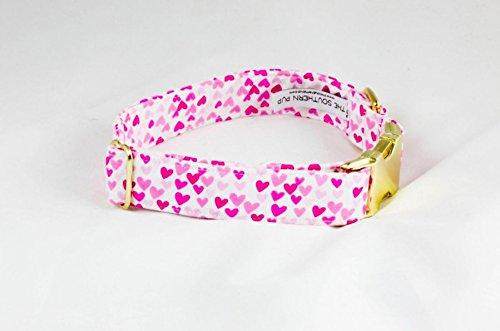 Be My Valentine Pink Hearts Dog Collar
