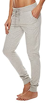 Alloy Apparel Women's French Terry Jogger XL 32 Heather Gray
