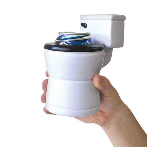BigMouth Inc. - Enfriador de Bebidas Higiénico, diseño de inodoro, color blanco BM1506