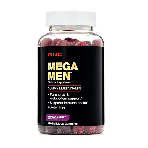GNC Mega Men Gummy Multivitamin Mixed Berry 120 Gummies