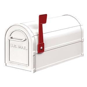 Salsbury Industries 4850WHT Heavy Duty Rural Mailbox, White