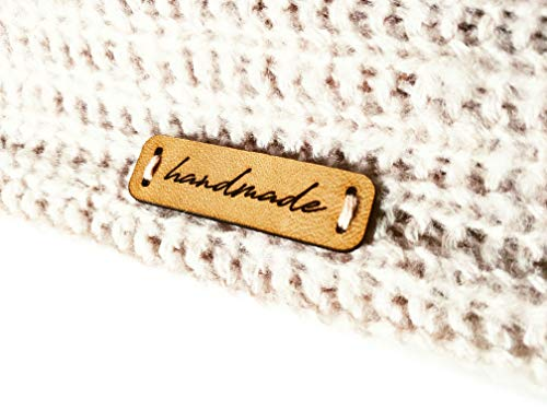 """Handmade Leather Label C2 """"handmade"""" 