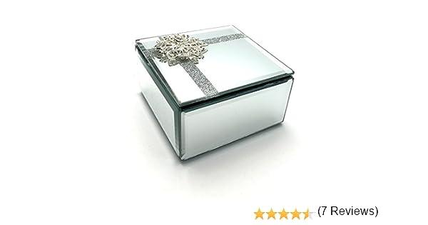 Juliana Bonita Caja de joyería de Cristal con diseño de Mariposas: Amazon.es: Hogar