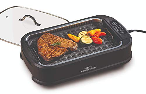 Indoor Grills Electric with Removable Plates Smokeless As Seen On TV Power BBQ Barbecue Grilling Home Deck
