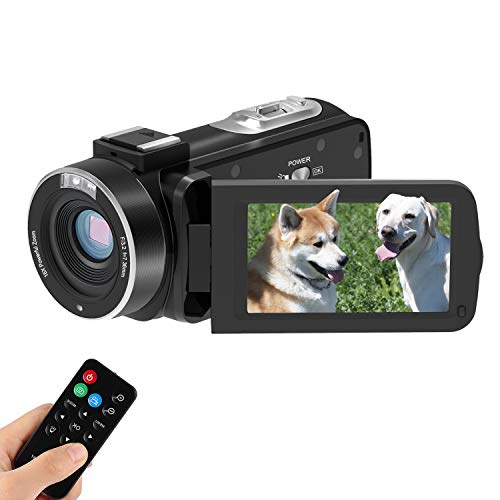 Camcorder Vlogging Camera CofunKool Digital Video Camera 1080P Full HD 24MP 3.0 Inch IPS Touch Screen, with Night Vision Remote Control, 2 Batteries