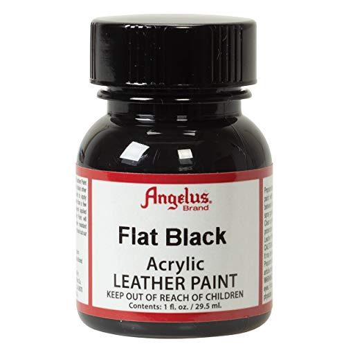 Angelus Acrylic Leather Paint, Flat Black, 1 oz.