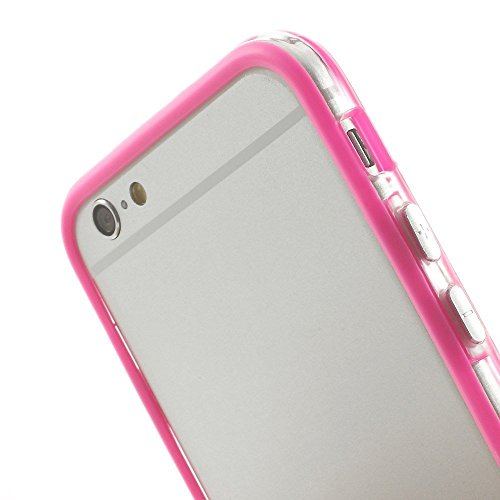 Iphone 6/6s Silicon Bumper Transparent Hot Pink by G4GADGET®