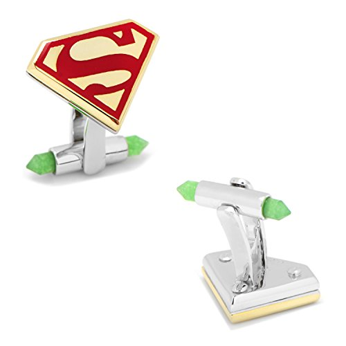 - Cufflinks DC Comics Luxe Superman with 18k Gold, Officially Licensed