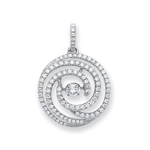 Or blanc 18 carats Diamant 0,60 ct Dancing pendantes