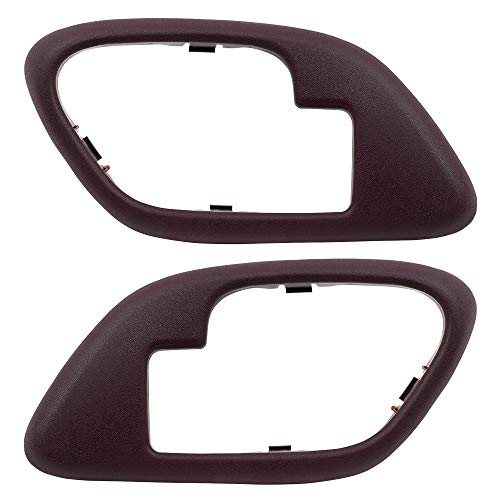 Pair Set Inside Inner Red Door Handle Trim Bezels Replacement for Cadillac SUV Chevrolet GMC Pickup ()