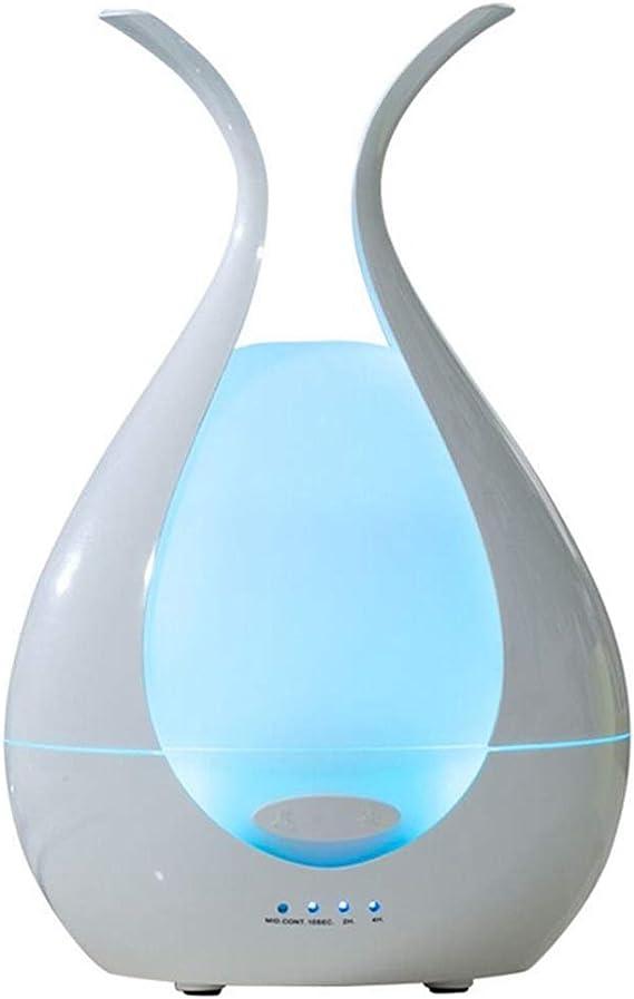 アロマディフューザー アロマディフューザー アロマディフューザー ベッドルームスリープエイドアロマディフューザー ミニ加湿器 アロマディフューザー エッセンシャルオイルディフューザー (Color : 白, Size : 13*13*20cm)