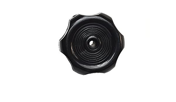 RV Designer Collection H713 Black 1 Inch Plastic Shaft Knob