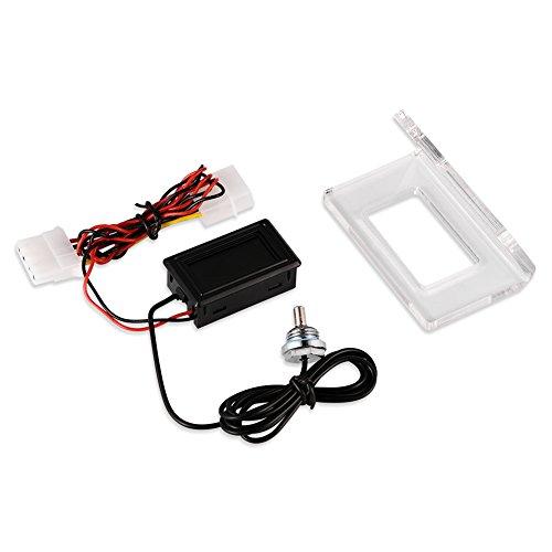 Digital Thermometer PC Computer Water Cooling Temperature Detector Waterproof Sensor Probe Aquarium Car Water PC Case Temp Meter (Dial) by Aramox