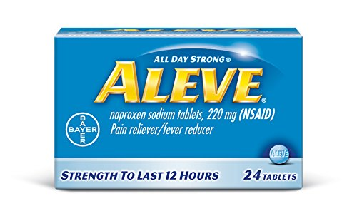 Aleve Tablets with Naproxen Sodium, 220mg (NSAID) Pain Reliever/Fever Reducer, 24 Count ()