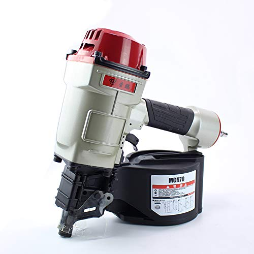 BAOSHISHAN Pneumatic Coil Roofing Nailer Air Nailing Gun(Nail Length:1-9/64Inch to 2-3/4Inch,45mm-70mm) CN70