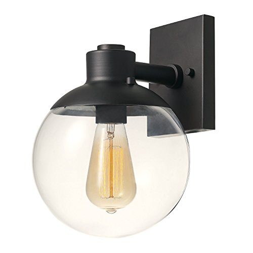 (Globe Electric 65851 Portland 1 Lighting Fixture, Wall Sconce, Dark Bronze)