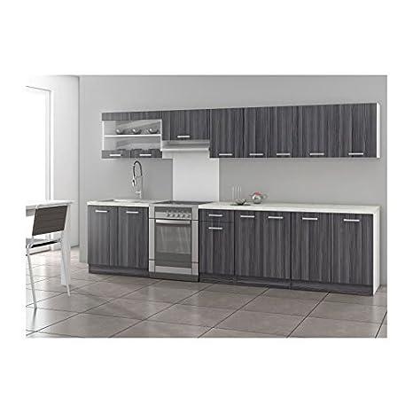 Ultra XXL Cucina completa 3 m 20, decorazione in rovere, colore ...