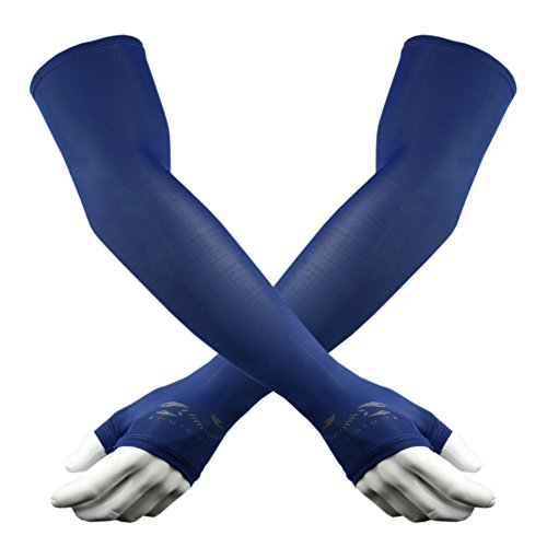 Scorpion Arm Sleeves Hand Cover for Sun Protection ,Running Driving and other sports, Hiking, cycling , Blue