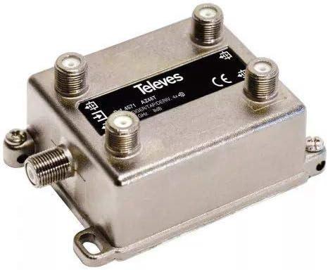 Televes 4571 - Derivador 4d 8db con conector f-: Amazon.es ...